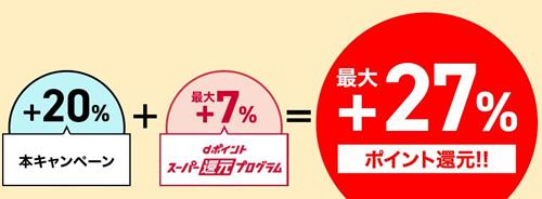 最大+7%ポイント還元