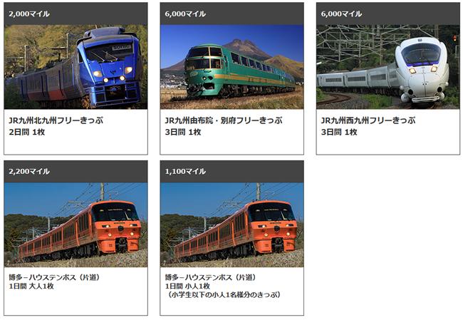 どこかにマイル JR九州フリーきっぷ特典