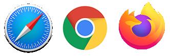 Safari Chrome Firefox
