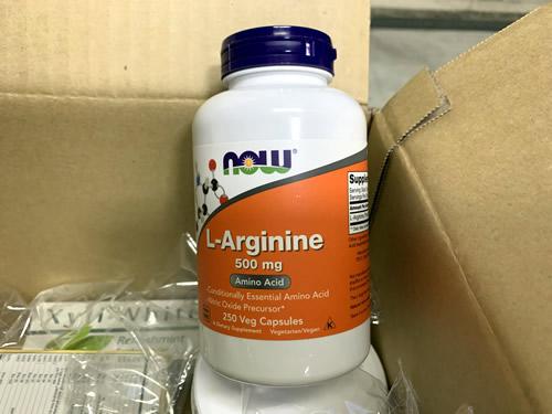 Now Foods, L-アルギニン、500mg、ベジカプセル250粒