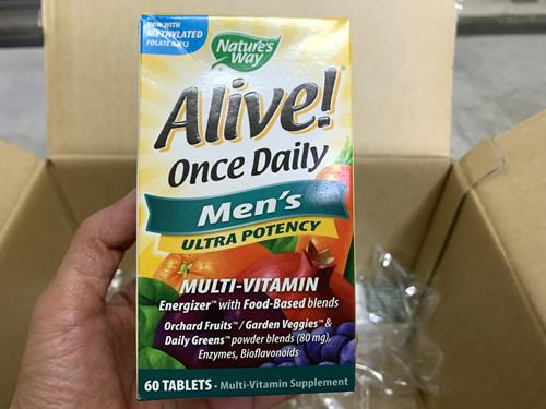 Nature's Way, Alive! (アライブ!)毎日1粒, 男性のマルチビタミン, 60粒