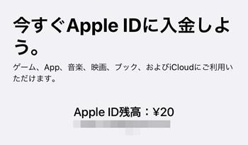 残高20円