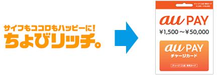 ちょびリッチ ⇒ au PAY ギフトカード